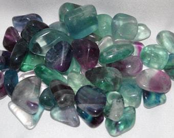 Genuine Tumbled Fluorite Gemstone