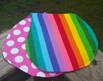 Rainbow Burp Cloth