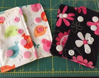 PUL Cloth Diaper Extender Tabs for Sunbaby, Alvas, Happy Flutes, Charlie Banana and Best Bottoms