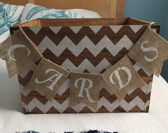 Wedding Cards burlap banner, cards banner, wedding burlap banner, Cards bunting, cards, petite banner, small card banner