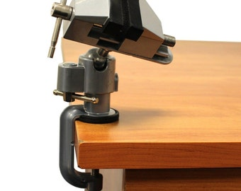 Vises Bench 360 Swivel Vise 3 Work Bench Clamp Tabletop Vise Rotating Jaw Head