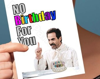 Funny Birthday Card |Soup Nazi Seinfeld Card | jerry kramer george elaine bday I love you pop culture blank friendship boyfriend man him