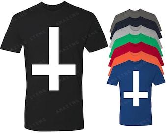 Inverted White Cross T-shirt Latin Cross Shirts
