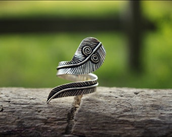 Silver ring. Tribal jewelry.