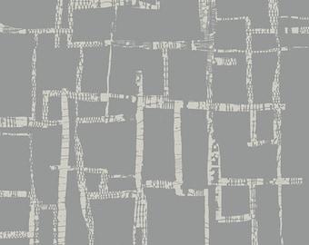 Imprint Fabric, Maze Fog, Grey, by Katarina Roccella for Art Gallery Fabrics.  Beautiful!