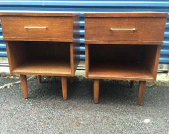 Vintage Mid Century Modern Nightstanda or End Tables