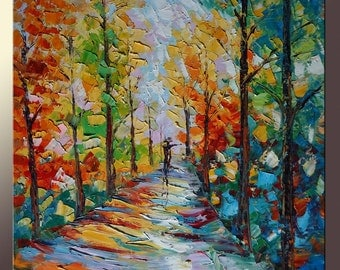 Oil Painting Abstract Original Landscape Oil Paintings Canvas Painting Contemporary Painting Large Canvas Painting Wall Decor Palette Knife