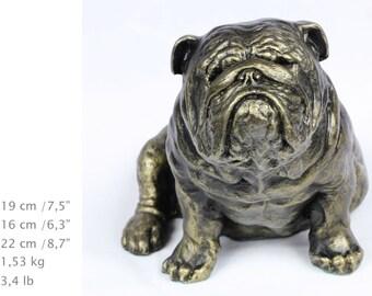 English Bulldog, dog sitting statue, limited edition, ArtDog