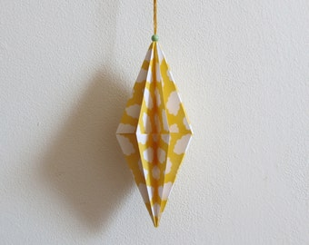 Decorative suspended origami
