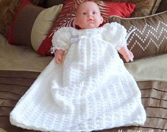 Christening Dress Hand Crocheted (0-3 months)