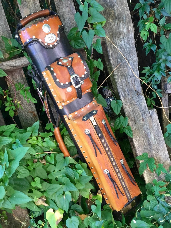 Custom Handmade Leather Pool Cue Case By Designsbycritelli
