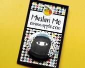 Niqaabi Muslim Button