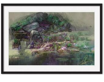 Tranquility  / Original Art / Giclee Poster Print A3