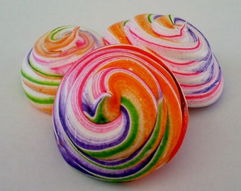Unicorn Rainbow Poop Meringue Cookies 2 Dozen