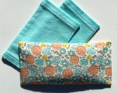 "All organic, this eye pillow is 8"" x 4 and comes with 2 flannel washable covers"