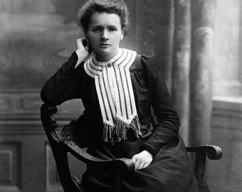 Famous scientist Marie Curie Poster 24x32 Printing