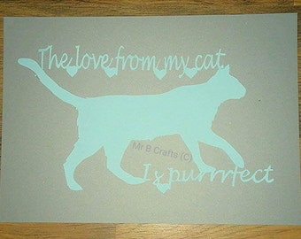 My cat is purrrfect papercut template