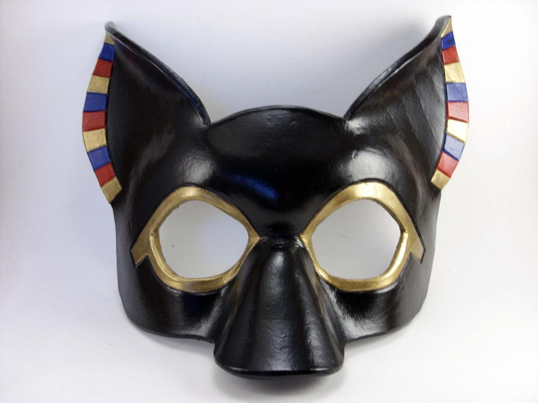 Anubis Mask Leather Masquerade Egyptian God Cosplay