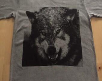 Wolf Tiger Animal Punk Rock Fashion T-Shirt M