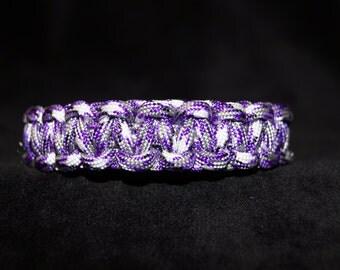 Paracord Bracelet Color is Camo - Purple