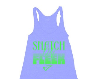 Snatch on Fleek graphic tank top purple