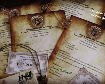 "EDITABLE Hogwarts School of Witchcraft and Wizardry Acceptance Letter ""SET"""