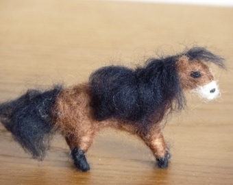 Fluff the Miniature Needle-Felted Shetland Pony