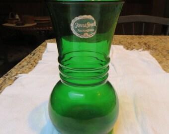 Vintage Forest Green Vase