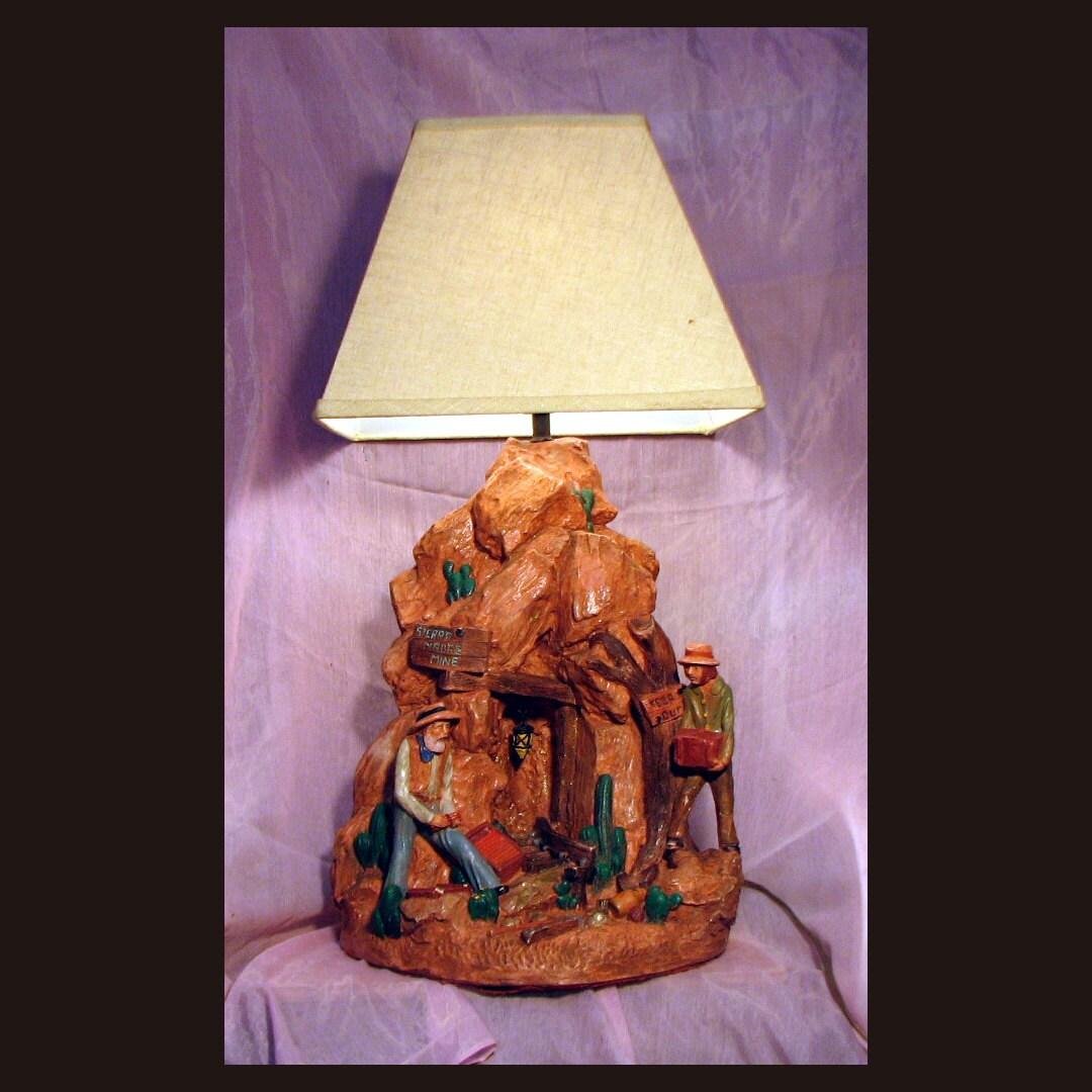 Gold Mine Lamp Western Style Light Mining Décor Lamp