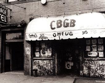 CBGB Poster, Iconic Punk Music Venue, New York City