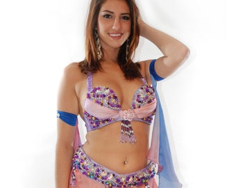 Purple Light Belly Dancer Costume