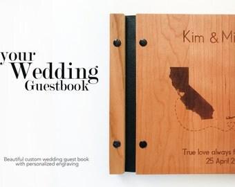 Custom Wedding Guest Book Polaroid Wedding Guest Book Wooden Wedding Guestbook Album Custom Bridal Shower Gift Map Guest Book Wedding Album