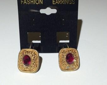 Red/Gold Earrings