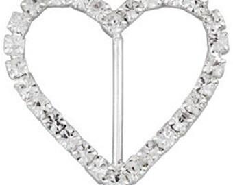 31x37 Beadelle Heart Buckles (6pcs)