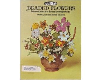 Beaded Flower Craft by Samuel Wallach, aka Walbead Beaded Flowers, vintage book, flower beading patterns, beaded flower patterns(WB-01)