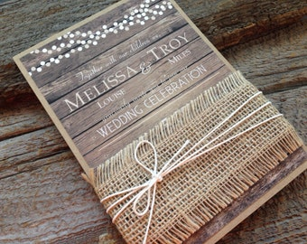 rustic wedding invitation setbarn wedding invitationcountry wedding invitationburlap wedding invitation