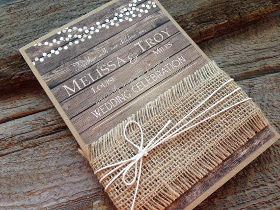 Country Rustic Wedding Invitations: Rustic Wedding InvitationBarn Wedding InvitationCountry