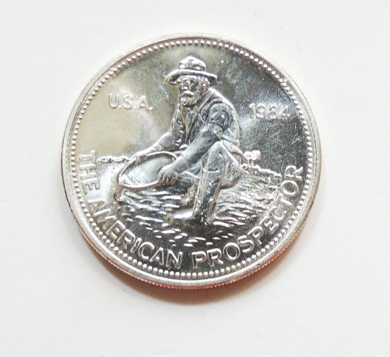 1984 Engelhard 1 Oz 999 Pure Silver Art Round Vintage