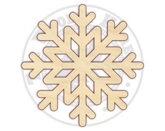 "Snowflake 14""-18"" - Wood Cutout  - 170319 - Unfinished wood"