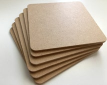 Bulk Blank Coasters - Perfect for stamping or painting on craft supplies square diy coaster mdf wood material, bulk, wholesale flat shipping