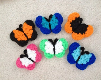 Crocheted Butterfly Magnets