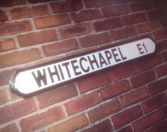 Whitechapel Old Fashioned Wood London Street Sign
