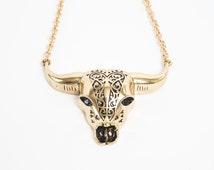 Native 'Sacred Buffalo' Buffalo Skull Necklace