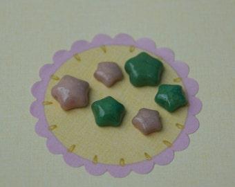 polymer clay star cabochons