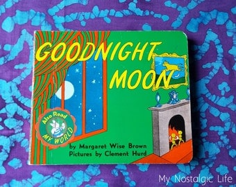 90's Books ~ Vintage GoodNight Moon~ First Board Book Edition ~ 1991 ~ Margaret Wise Brown ~ Toddler Book ~ Timeless Children's Story