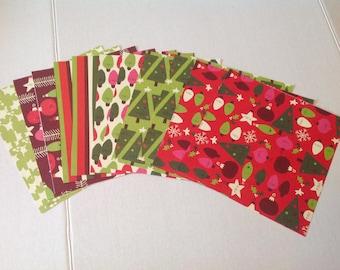 K & Company Designer Card Stock , DIY Crafts , kids, Christmas , trees, lights, ornaments , stripes, holly, winter