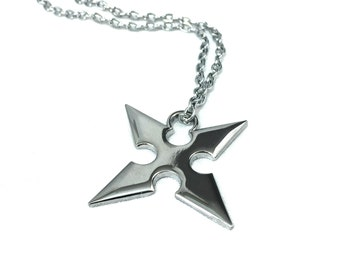 Throwing Star Metal Necklace