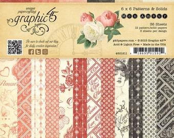 Graphic 45 Mon Amour 6x6 Paper Pad, SC007557