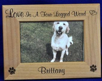 Pet Frame.  Dog Frame.  Personalized Pet Frame.  Engraved Pet Frame. Pet Gift. Pet Frame. Dog or Cat Frame. Pets. Gift For Pet Lover. Pet