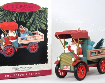 1993 Hallmark Here Comes Santa Keepsake Ornament Happy Haul-idays Dump Truck #15 in Series Holidays Santa Claus MIB 15th